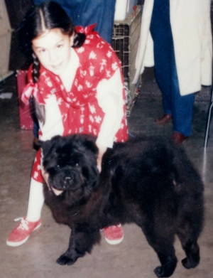 Bella & I at a dog show, I was in 4th grade here.